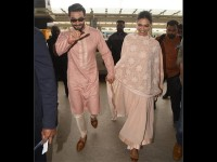 Ranveer Singh Deepika Padukone Spotted Walking Hand In Hand At Bangalore Airport