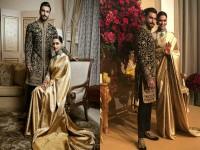 Deepika Padukone Ranveer Singhs Royal Look In Bengaluru Reception