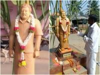 Fans Built Ambareesh Statue In Mandya