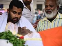 Last Respect Paid To Ambareesh At Mandya