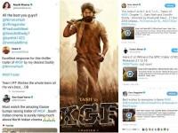 Other Language Stars Appreciate Yash Starrer Kgf Trailer