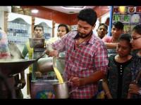 Sada Nimmondige Kannada Actor Prajwal Devaraj Sells Badam Milk In Vv Puram