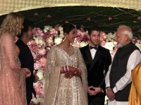 In Pics Priyanka Chopra Nick Jonas Wedding Reception At New Delhi