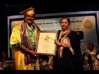 Producer K Manju Gets Honorary Doctorate From Indian Virtual Academy