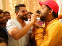 Bharaate Team Celebrated Yajamana Song Success