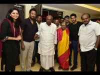 Hd Devegowda Watches Nikhil Kumar Starrer Seetharama Kalyana Movie