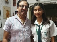 Kannada Actress Sudharanis Daughter Nidhis Last Exam And Last Day Of School Life