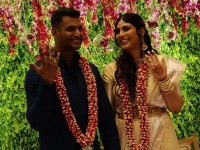 Tamil Actor Vishal Got Engaged With His Girlfriend Anisha Alla Reddy