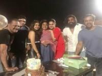 Arjun Sarja Second Daughter Anjana Celebrating Her Birthday