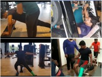 Vinod Prabhakar Workout In Gym With Injured Leg