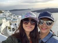 Kannada Actress Sudharani Flys To Santorini Greece Island