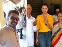 Rishab Shetty And Shwetha Prasad Casting Their Vote