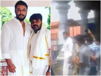 Kannada Actor Darshan Visits Dharmasthala Sri Manjunatha Temple