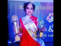 Serial Artist Deepika Crowned As Miss South India Glamour