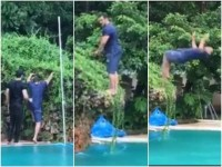 Salman Khan Has Been Sharing Video A Jumping Into A Pool