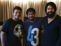 Kannada Actor Puneeth Rajkumar Met Actor Rocking Star Yash In Mysore