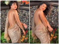 Priyanka Chopra Bare Back Picture In A Saree Become A Heavy Trolling
