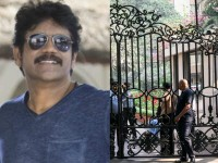 Students Protest In Front Of Nagarjuna Home