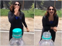 Actress Haripriya Accepted Bottle Open Challenge