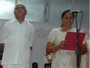 Yeddyurappa and Shobha story in Bhrashtachara movie