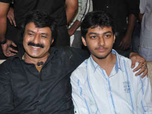 Balakrishna with his son
