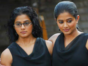 Priyamani as siamee twin in Kannada movie Charulatha
