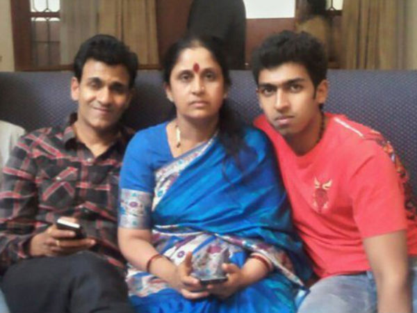 Vinay Raj with parents
