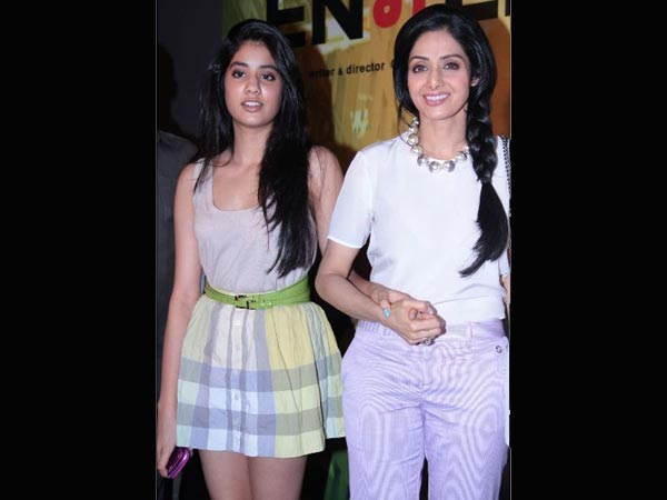 Sridevi with daughter