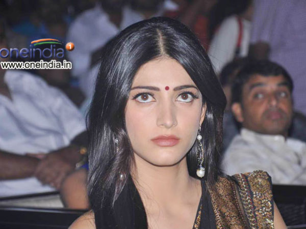 Actress Shruti Haasan