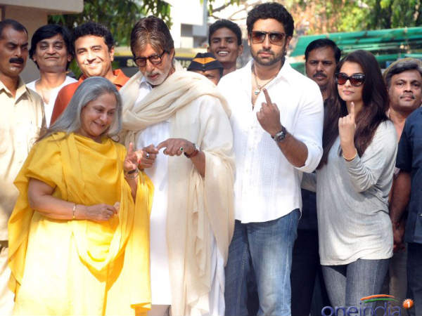 Aishwarya Rai family voting
