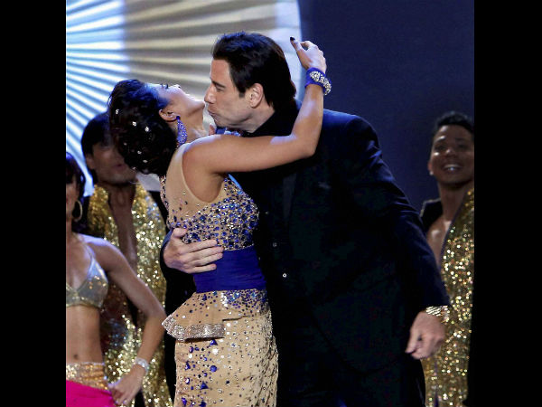 Hollywood star John Travolta dances with Priyanka Chopra