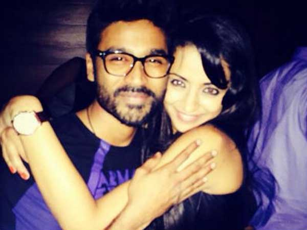 Actress Trisha Krishnan late night party with Dhanush