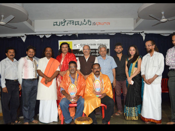 Music conductors honoured by Love in Hubli Junction Music Director Chinmaya M.Rao