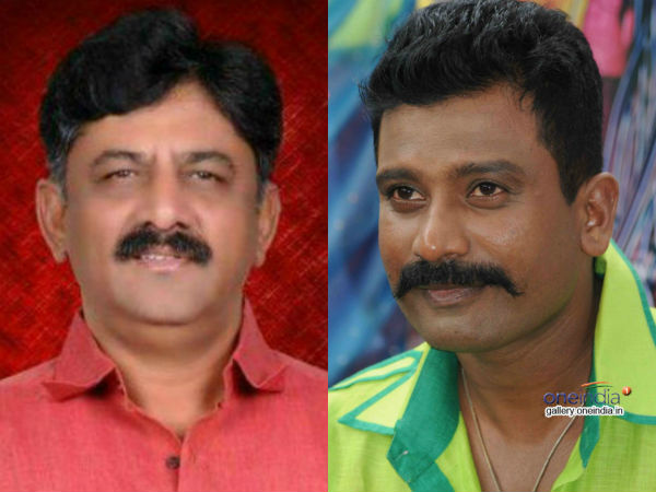 Jogi Prem briefs about his movie 'D.K' to Minister D.K.Shivakumar