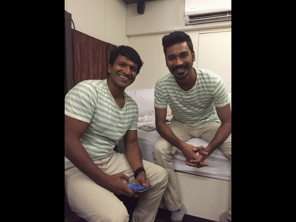 Puneeth Rajkumar and Dhanush are snapped together