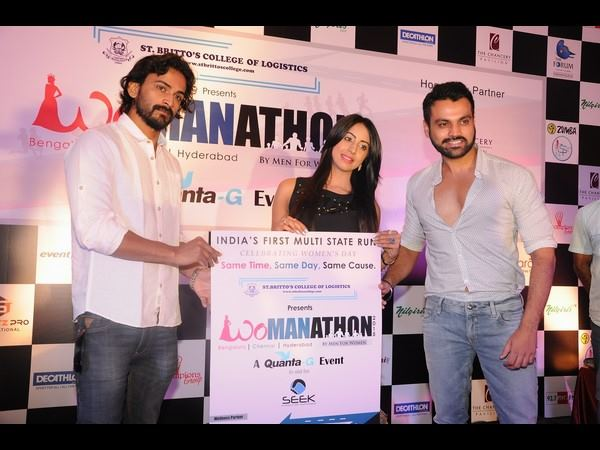 Sandalwood celebrities in 'Womanathon' - By Men for Women
