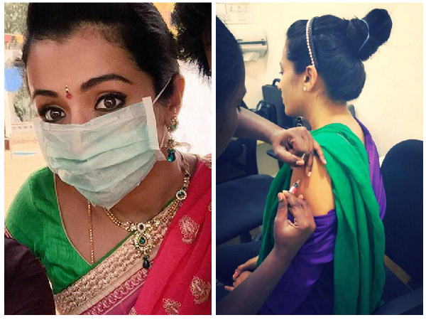Actress Trisha Krishnan Scared Of Swine Flu
