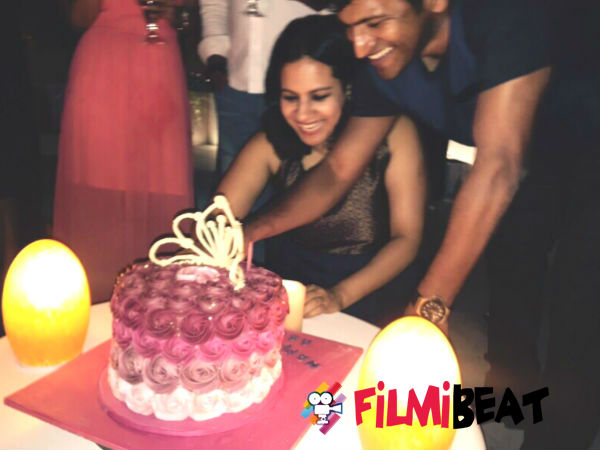 Puneeth Rajkumar celebrates his wife Ashwini's birthday