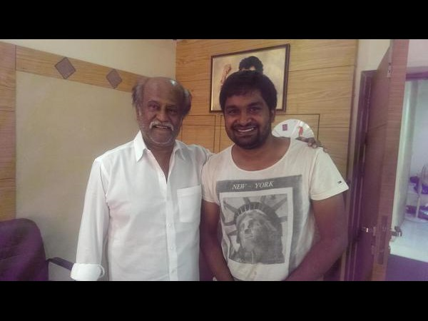 Director Pawan Wadeyar meets Super Star Rajinikanth