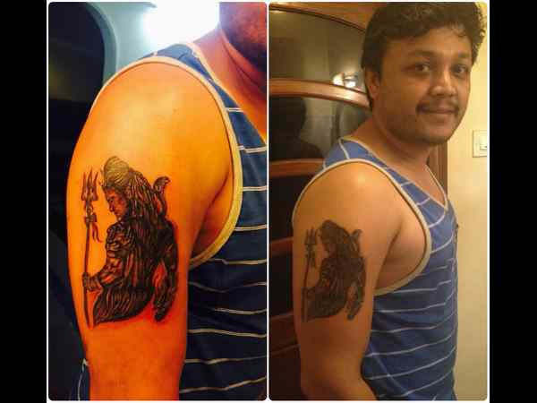 Golden Star Ganesh gets Shiva Tattoo done