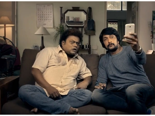 Kichcha Sudeep and Sadhu Kokila in OLX ad