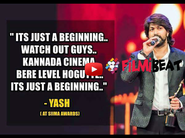 Rocking Star yash Speech at SIIMA 2015