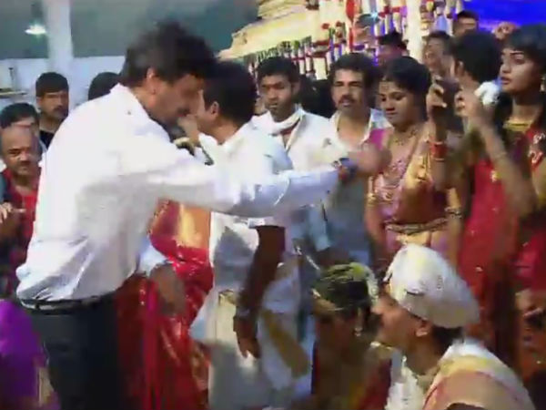 Sandalwood Star Sudeep in Shivarajkumar Daughter's marriage