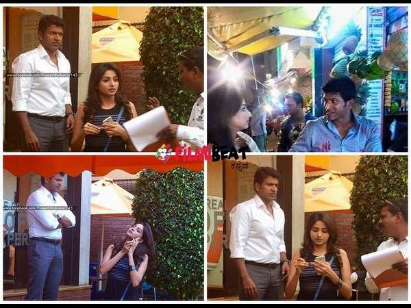 In Pic: Rachita Ram shoots with Puneeth Rajkumar for 'Chakravyuha'