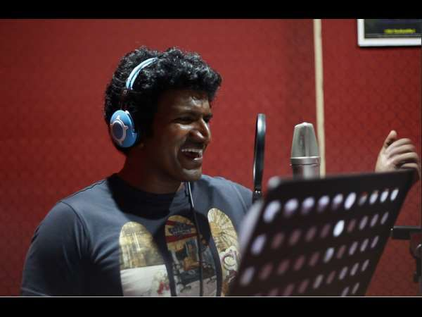 Kannada Actor Puneeth Rajkumar sings for charity