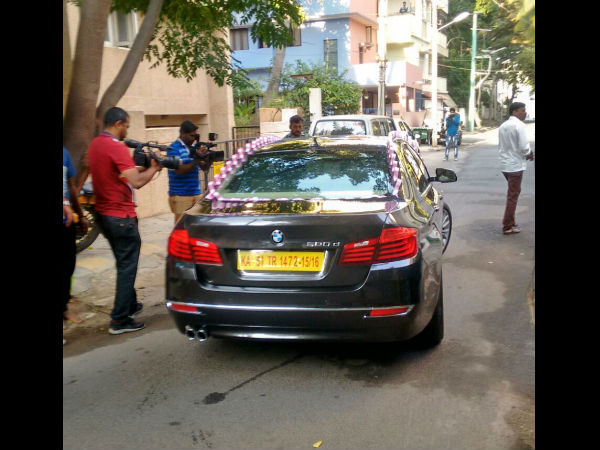 Kannada Actor Devaraj gifts bmw car for son Prajwal Devaraj