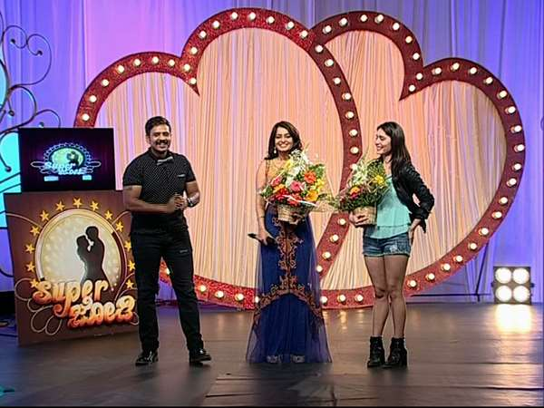 'Super Jode' reality show Celebrity Judge Nikita and Kushi in Suvarna Channel