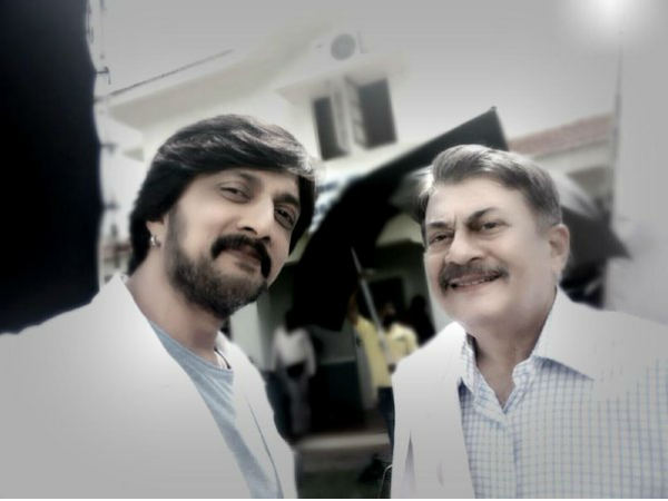 Actor Anant Nag Joins Actor Sudeep in Advertisement