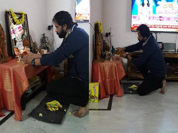ಪತ್ನಿಯಿಲ್ಲದೆ 'ತುಳಸಿ ಹಬ್ಬ' ಆಚರಿಸಿದ ಶ್ರೀನಗರ ಕಿಟ್ಟಿ