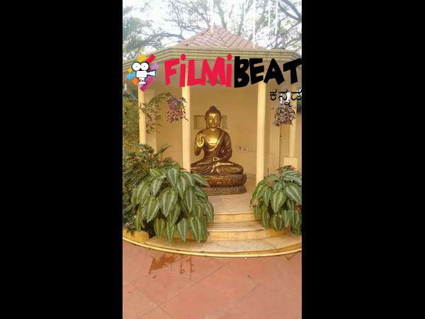 Buddha statue at Kannada Actor Ambareesh's house